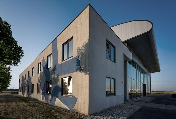 Gebäude grau