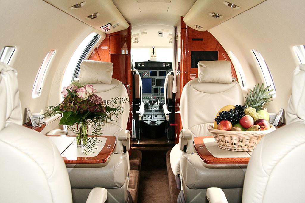 D-CRON | Cessna Citation XLS Willkommensgeschenke