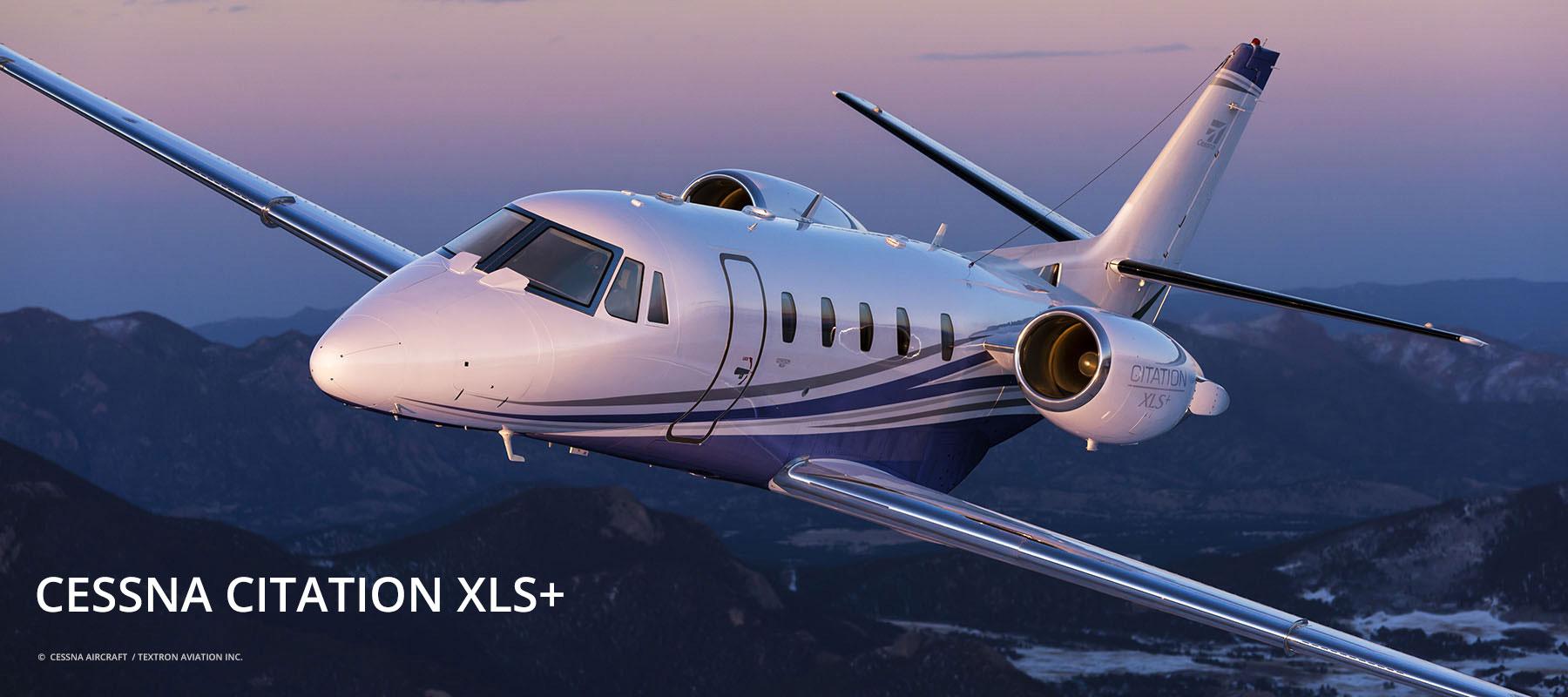 Cessna Citation Jet XLS+ in der Luft